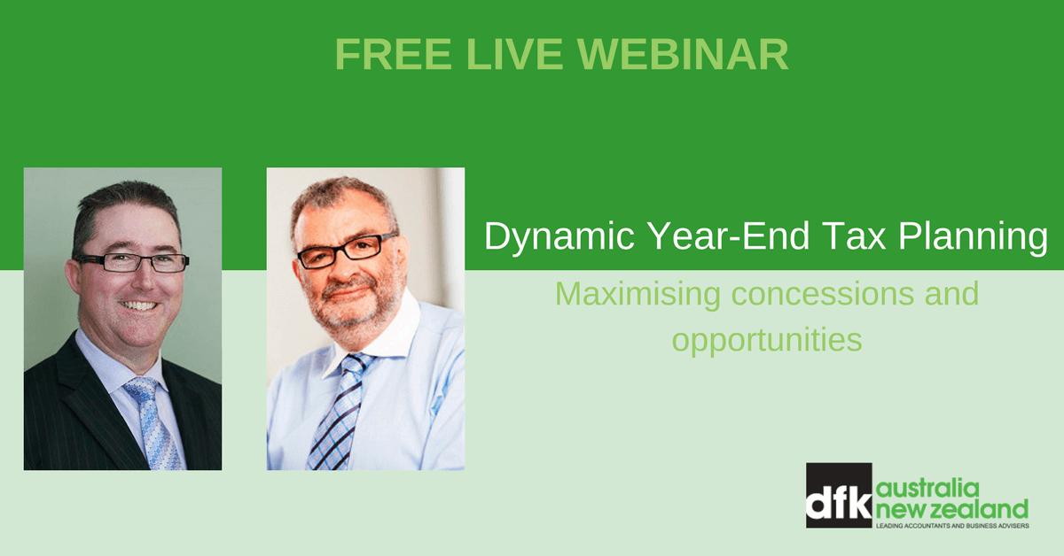 Dynamic Year-End Tax Planning Webinar